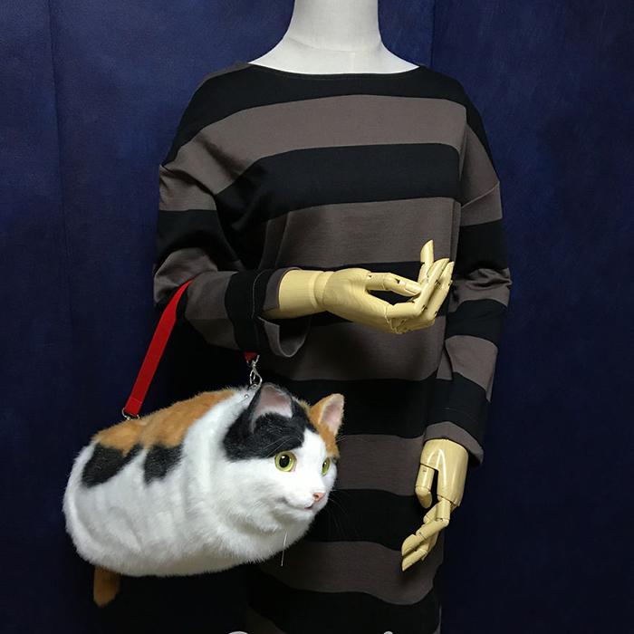 Realistic Cat-shaped Handbag