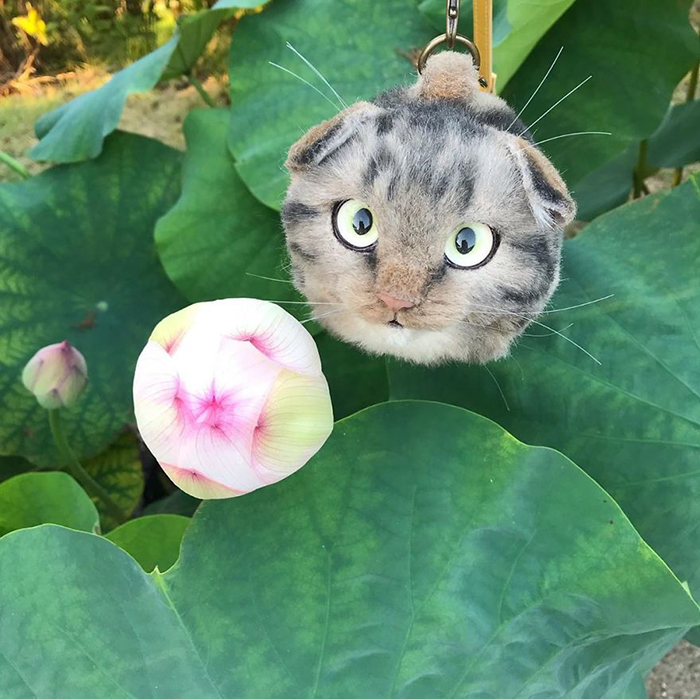 Realistic Gray Kitty Purse