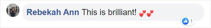 Rebekah Ann Facebook Comment