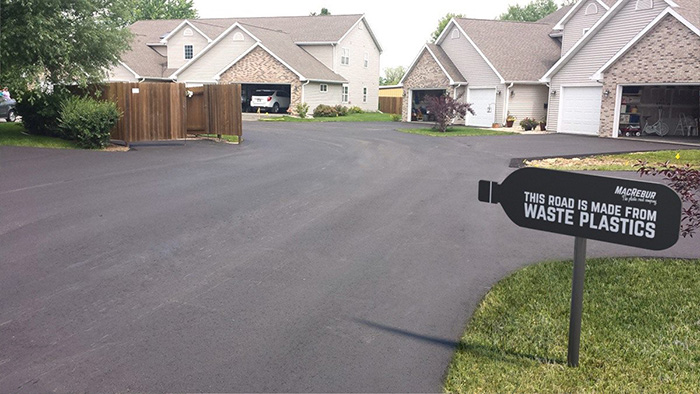 Residential Driveway Made from Waste Plastic Bottles