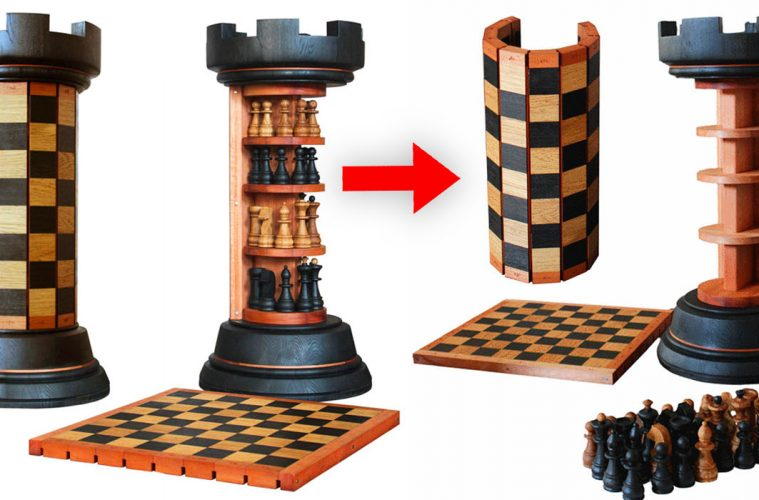 Rook Tower Chess Board