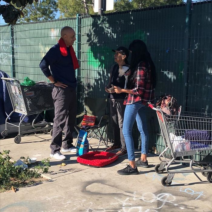 Street Veterinarian Dr. Kwane Stewart Interviewing a Homeless Person
