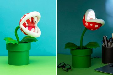 Super Mario piranha plant lamp