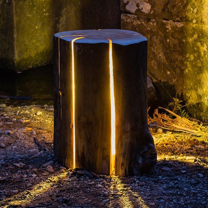 Unique Wooden Light Fixture by Duncan Meerding Design