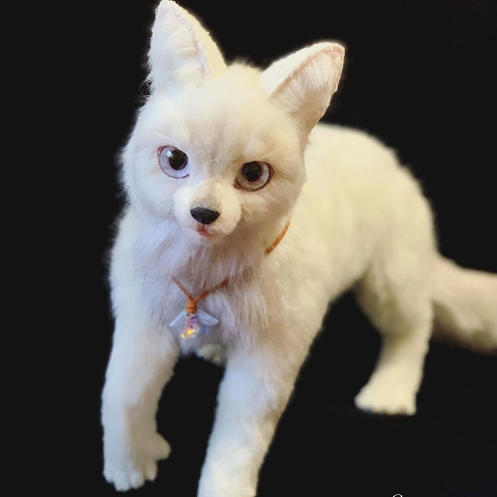 White Feline Stuffed Toy