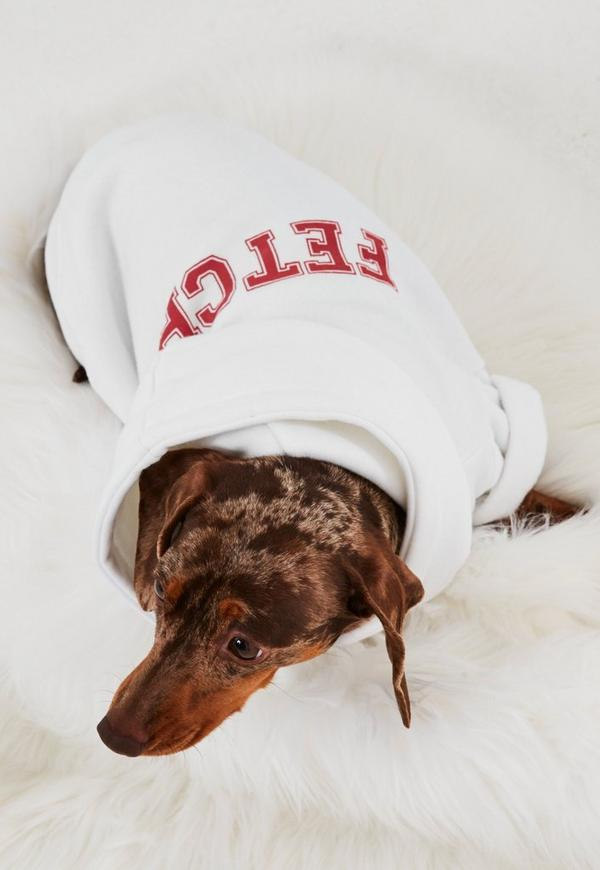 White Fetch Dog Hoodie