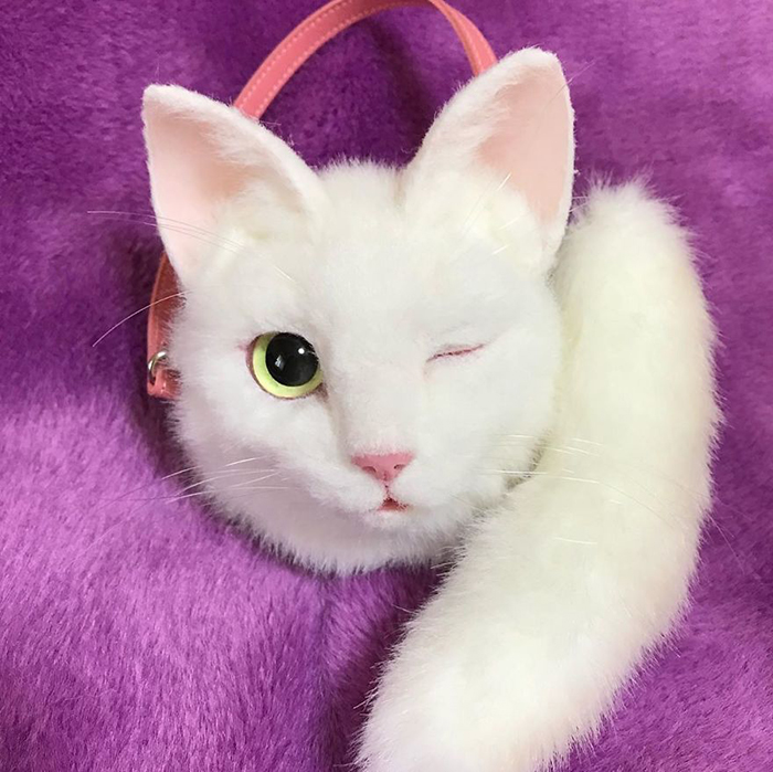 Winking Cat-shaped Bag