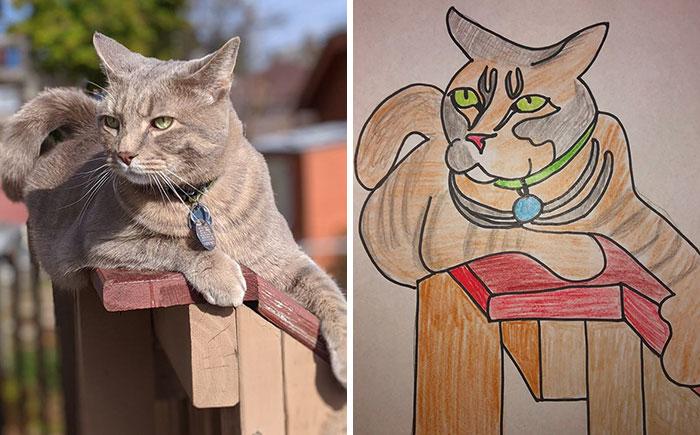 bad cat drawing