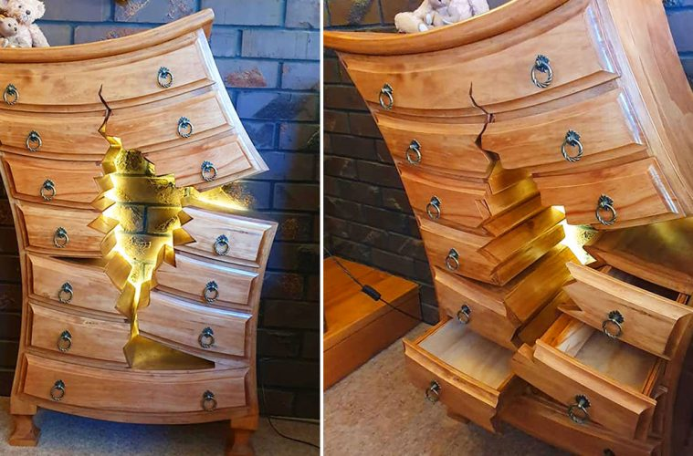 broken wooden furniture