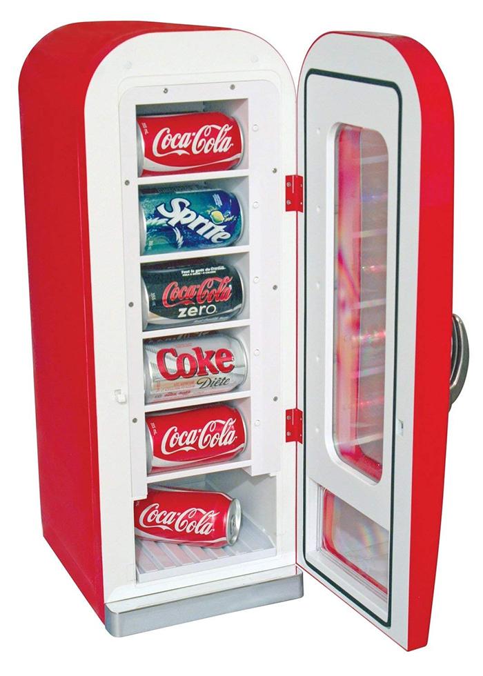 coca-cola mini vending fridge
