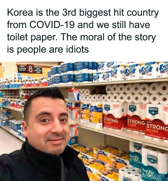 coronavirus jokes korea toilet papers