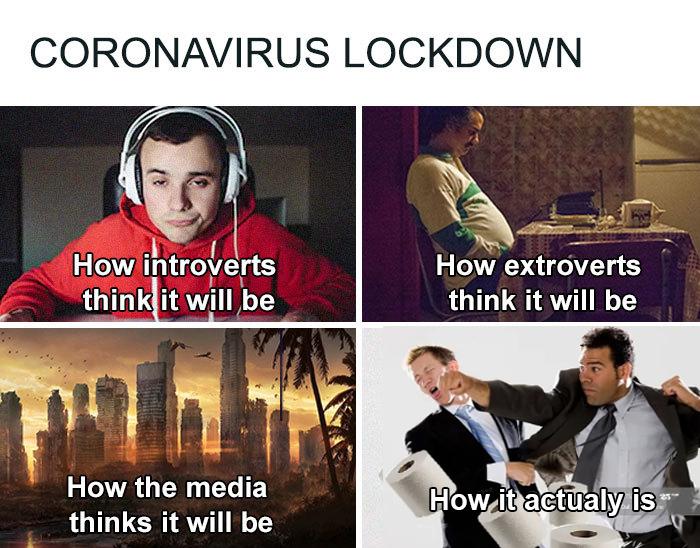 coronavirus jokes lockdown expectations