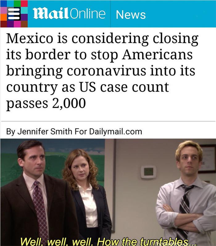 coronavirus jokes mexico revenge