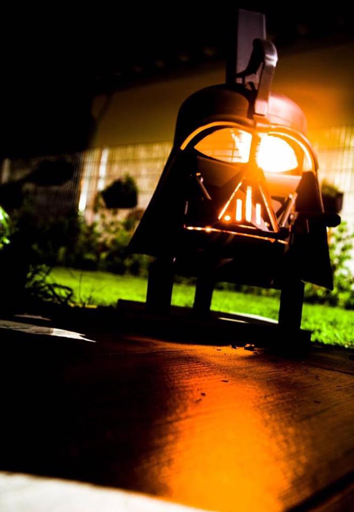 dark force inspired oudoor wood burner