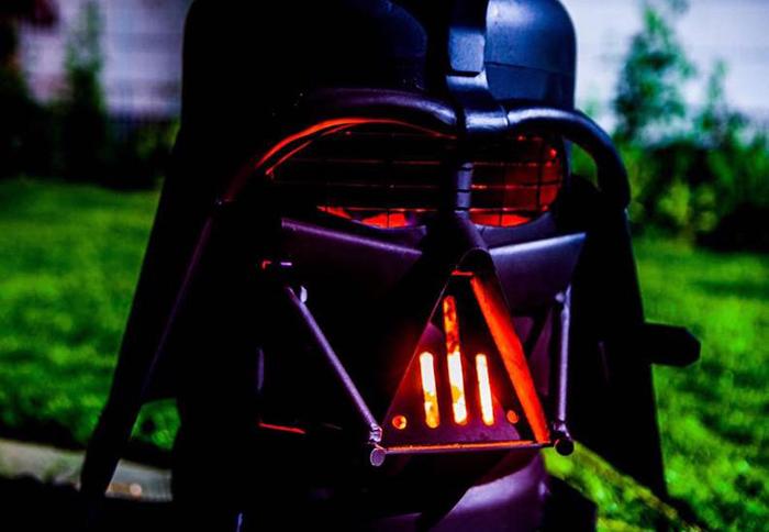 darth vader grill and wood burner