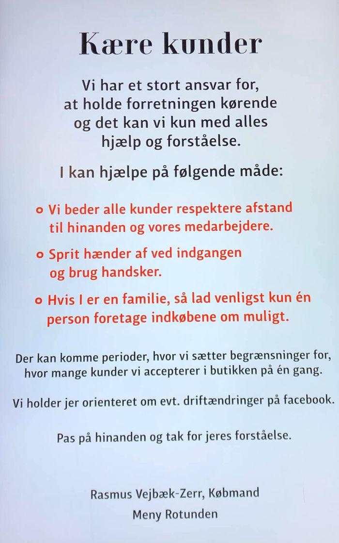 denmark rotunden letter to customers