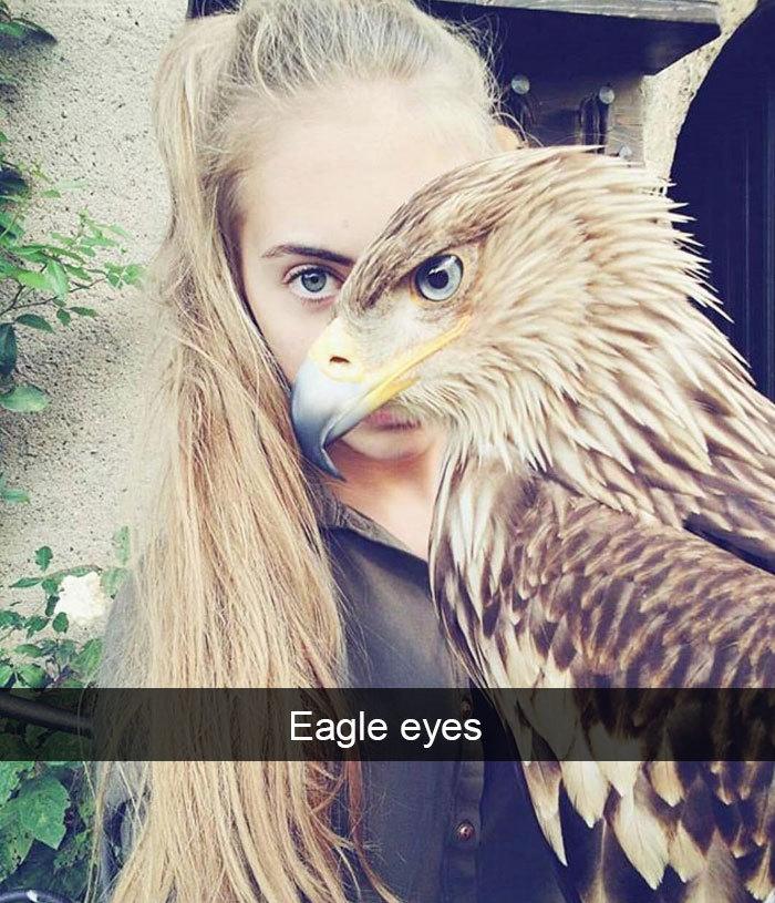 eagle girl matching eyes