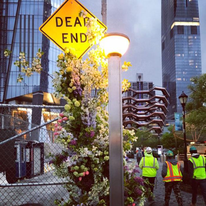 floral arrangement lewis miller dead end sign