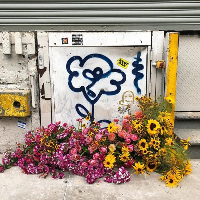floral arrangement lewis miller garage door elizabeth street