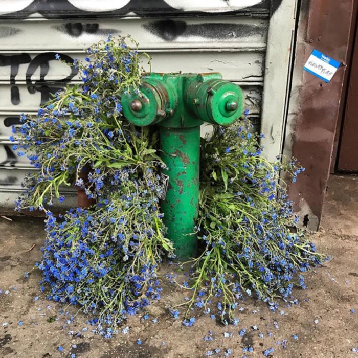 floral arrangement lewis miller siamere hydrant