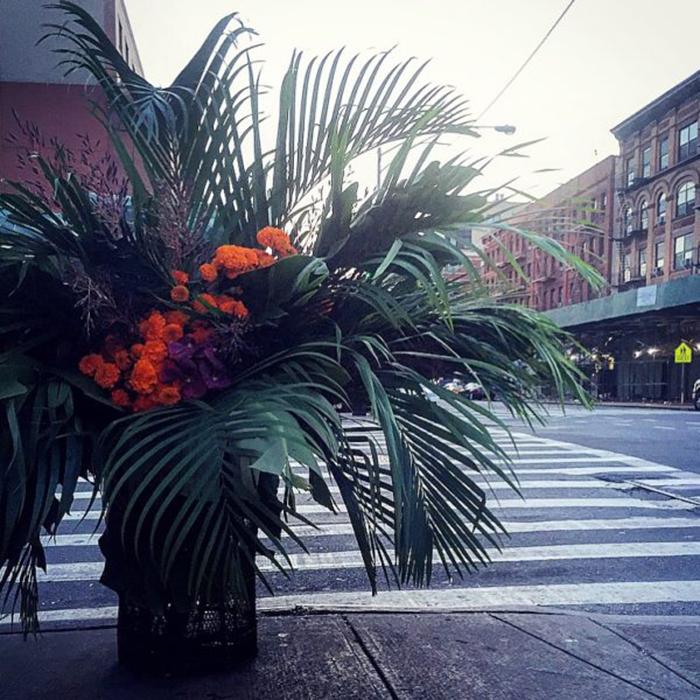 floral arrangement lewis miller trash can frederick douglas