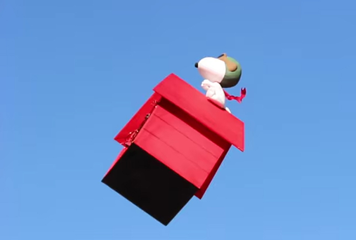flying snoopy doghouse drone