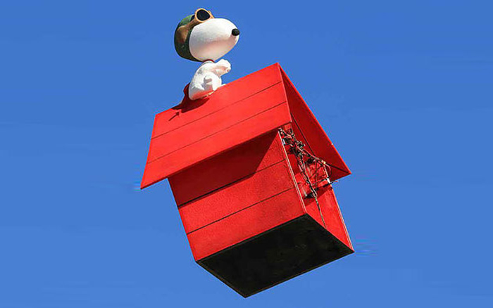 flying snoopy doghouse