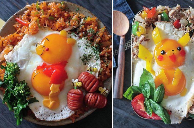fried egg art
