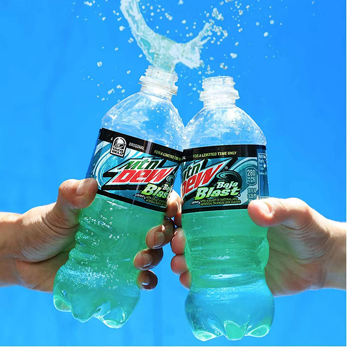 friends toasting some baja dew