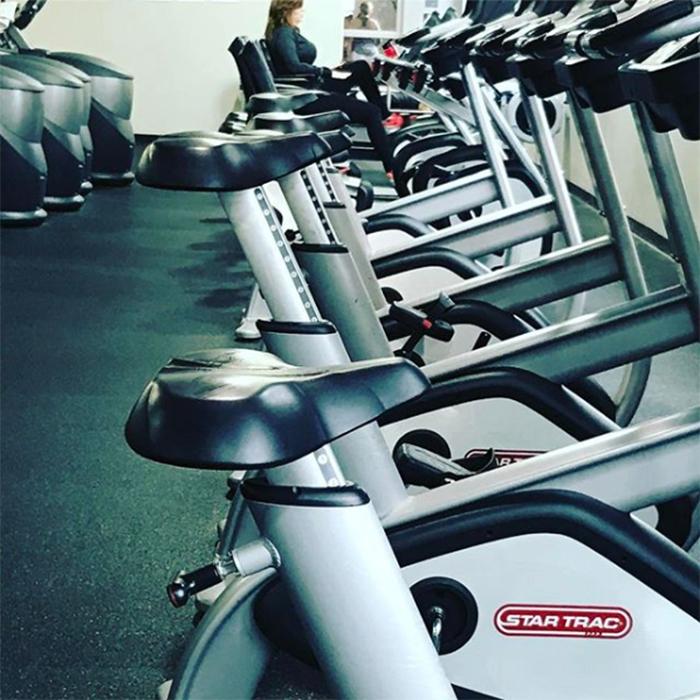gym bike seat adjusted