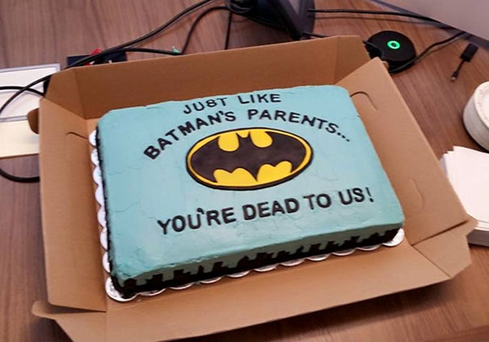hilarious farewell cakes batman