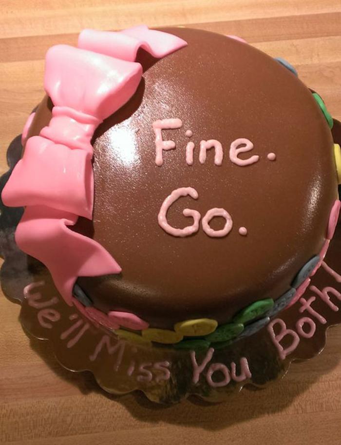 hilarious farewell cakes fine go