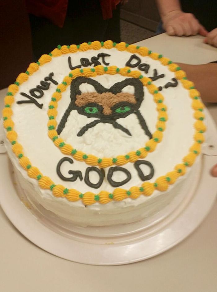 hilarious farewell cakes grumpy cat