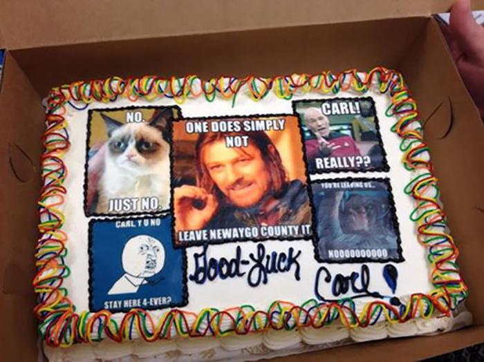 hilarious farewell cakes memes