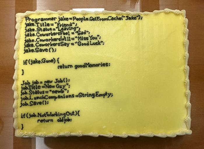 hilarious farewell cakes program codes