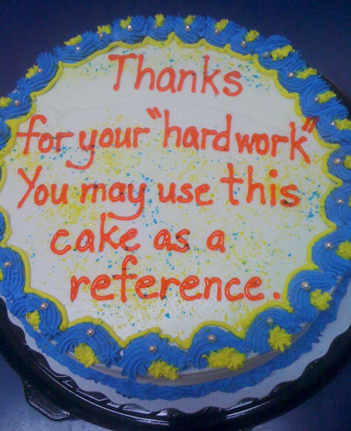 hilarious farewell cakes reference