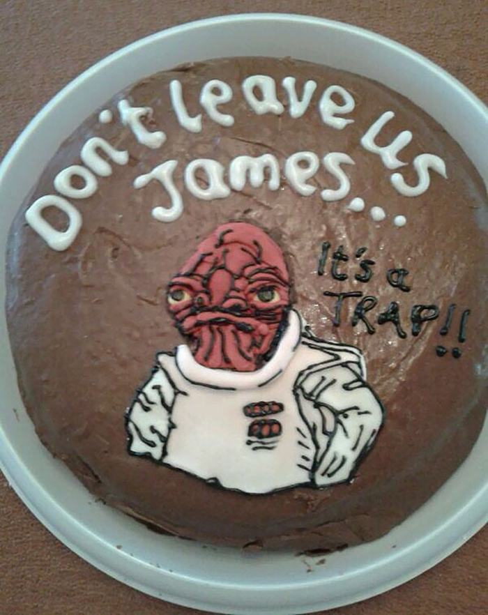 hilarious farewell cakes trap