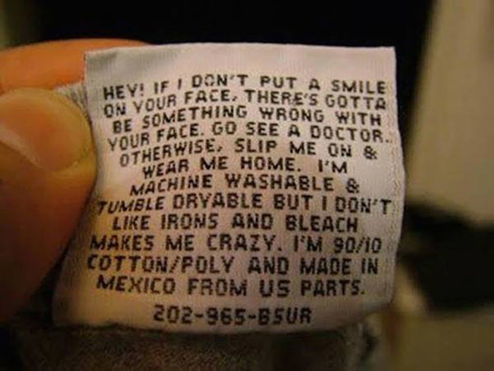 hilarious product label make your smile