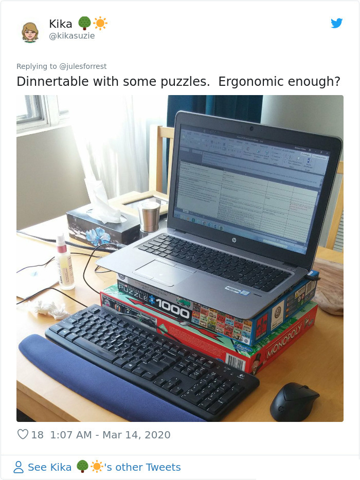 self quarantine improvised workspace puzzle games