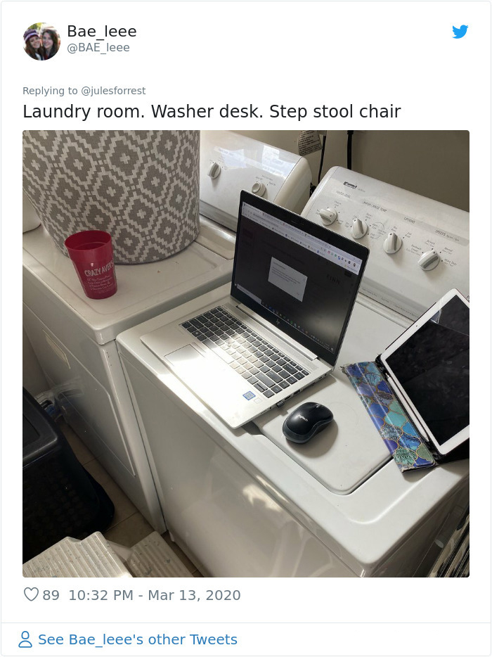 self quarantine laundry room office