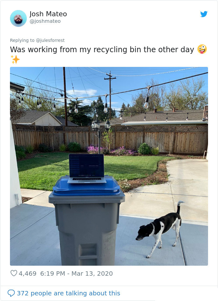 home quarantine recycle bin desk