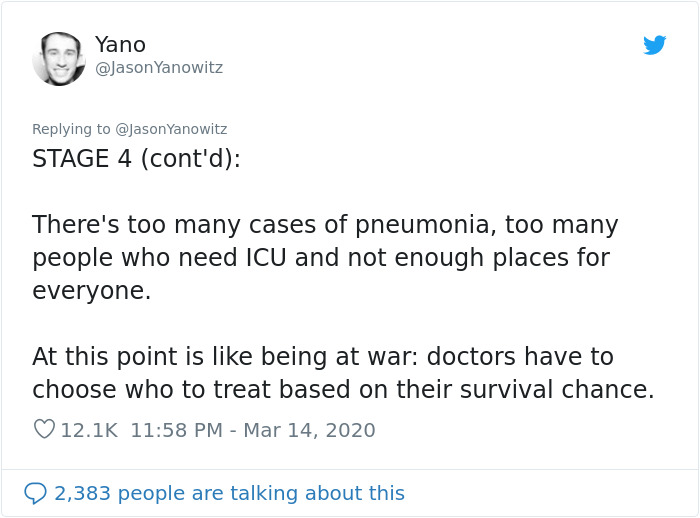 jason yanowitz coronavirus italy stage 4 lack medical staff