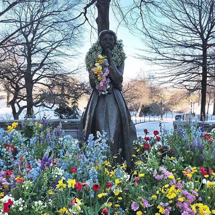 lewis miller flowers new york city eleanor roosevelt memorial