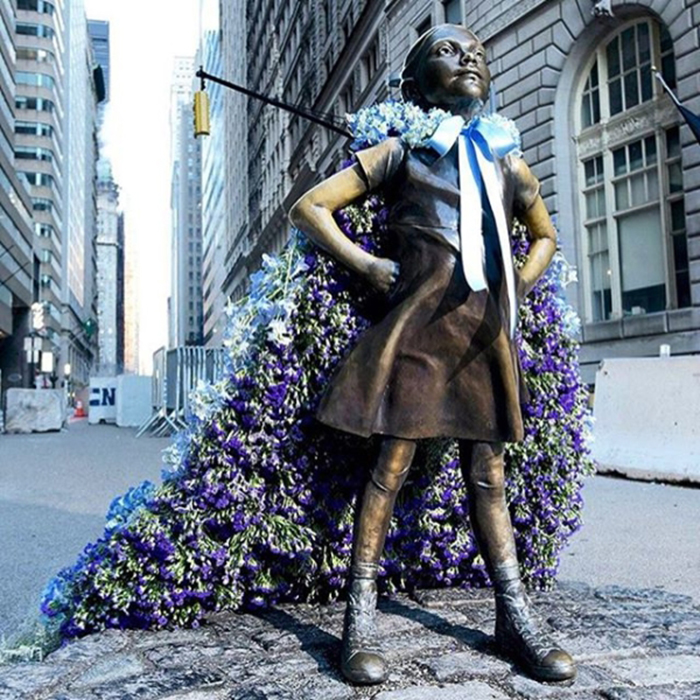 lewis miller flowers new york city fearless girl