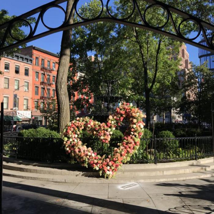 lewis miller flowers new york city giant heart