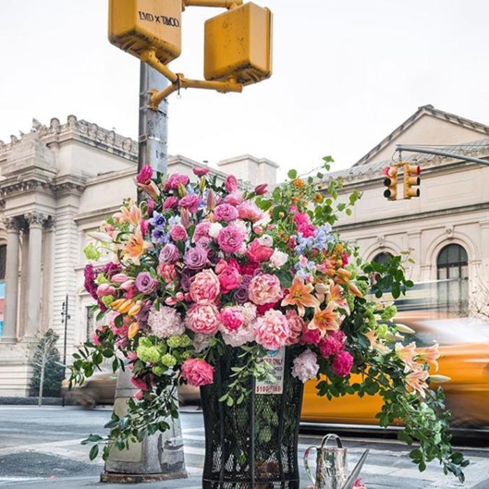 lewis miller flowers new york city metropolitan museum trash can