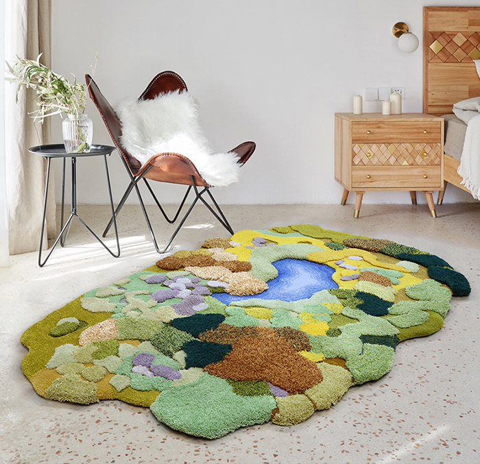 little forest 3d rugs bedroom