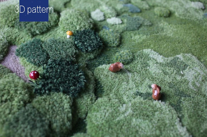 little forest 3d rugs pattern