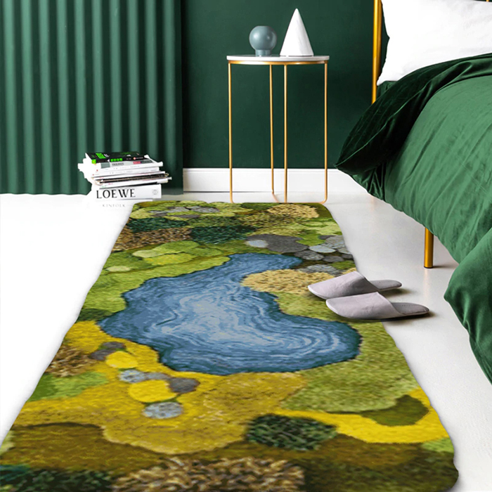 little forest 3d rugs rectangular shape