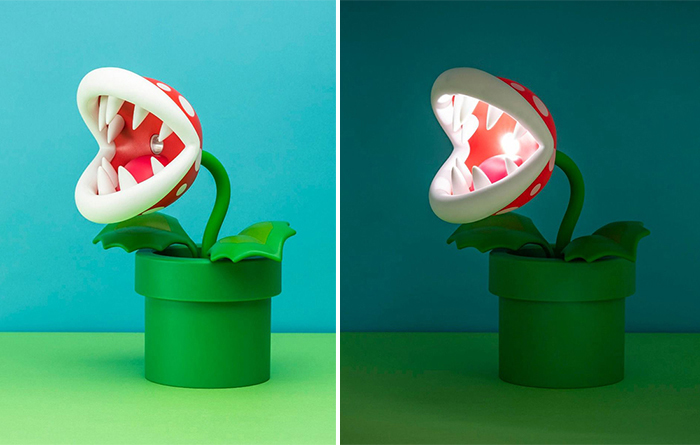 mario-inspired posable led light lamp